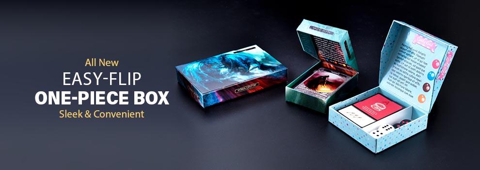 Easy-flip custom game box